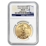 2014 1 oz Gold American Eagle MS-69 NGC Early Releases