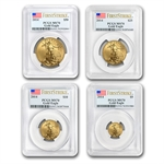 2014 4-Coin Gold American Eagle Set MS-70 PCGS First Strike