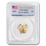 2014 1/10 oz Gold Eagle MS-70 PCGS First Strike
