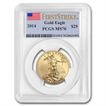 2014 1/2 oz Gold Eagle MS-70 PCGS First Strike