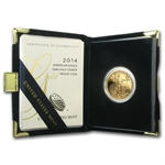2014-W 1/2 oz Proof Gold American Eagle (w/Box & CoA)