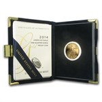 2014-W 1/4 oz Proof Gold American Eagle (w/Box & CoA)