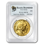 2014 1 oz Gold Buffalo MS-70 PCGS (FS) Black Diamond