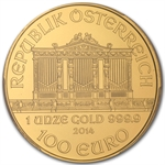 2014 1 oz Gold Austrian Philharmonic PCGS MS-69
