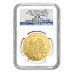 2014 1 oz Gold Austrian Philharmonic NGC MS-70 ER