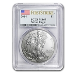 2014 Silver American Eagle MS-69 PCGS First Strike