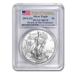 2014 (S) Silver American Eagle MS-70 PCGS First Strike