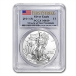 2014 (S) Silver American Eagle MS-69 PCGS First Strike