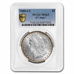 1880-CC Morgan Dollar - 8/High 7 MS-63 PCGS