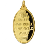 1/2 oz Fortuna Oval-Shaped Pamp Suisse Gold Pendant - No Assay