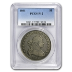 1801 Draped Bust Dollar Fine-12 PCGS