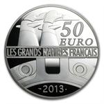 2012 5 oz Silver Proof Great French Ships - L'Amazone