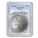 2012-W Infantry Soldier $1 Silver Commemorative - MS-70 PCGS
