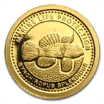 Palau 2013 Gold $1 Marine Life Protection - Mandarinfish