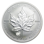 1999 1 oz Silver Canadian Maple Leaf - Lunar RABBIT MS-68 PCGS