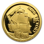 Cook Islands 2013 $1 MS Victory (1/2 gram of Pure Gold)