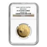 2008 1/2 oz Proof Gold Britannia PF-70 UCAM NGC