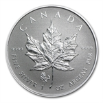 2014 1 oz Silver Canadian Maple Leaf - Horse Privy