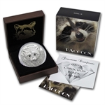 Vanuatu 2013 1 oz Silver Forest Animals - The Raccoon