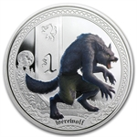 2013 1 oz Proof Silver Mythical Creatures - Werewolf