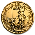 2014 1 oz Gold Britannia (Brilliant Uncirculated)