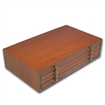 4-Tier Custom Wood Display Box for 20 - Coin ATB Set