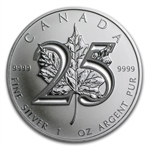 2013 1 oz Silver Canadian Maple Leaf - 25th Anniversary