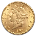 1889 $20 Gold Liberty Double Eagle - MS-62 PCGS CAC