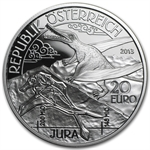 "2013 Jurassic""Life In The Air"" 20 Euro Silver Proof"