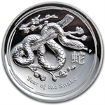 2013 1 oz Silver Snake High Relief Proof PCGS PR-69 DCAM