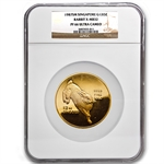 Singapore 1987 Singold 12 oz Gold Rabbit Proof NGC PF-66 UCAM