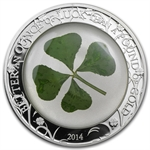 Palau 2014 $5 Proof Silver Four-Leaf Clover - Ounce of Luck