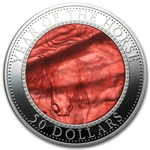 Cook Islands 2014 5 oz Silver Mother of Pearl - Year of the Horse