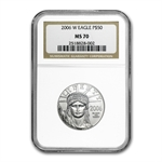 2006-W 1/2 oz Burnished Platinum American Eagle MS-70 NGC