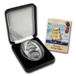 Benin 2013 Silver 1000 Francs Sail Ship Legends - Bounty