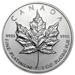 1997 1 oz Canadian Platinum Maple Leaf