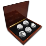 2013 5 oz Silver ATB 5-Coin Set in Elegant Display Box