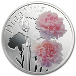 Belarus 2013 Silver Proof Under the Charm of Flowers - Carnation