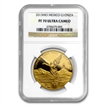 2013 1 oz Gold Mexican Libertad PF-70 UCAM NGC Registry Set