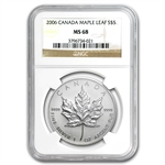 2006 1 oz Silver Canadian Maple Leaf MS-68 NGC