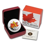 2013 1/2 oz Silver Canadian $10 Maple Leaf Painted (W/Box & COA)