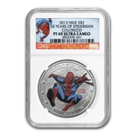 Niue 2013 1 oz Silver-50 Years of Spider-Man PF-69 NGC