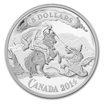 2014 Silver Canadian Bank Note Design - St. George Slaying Dragon