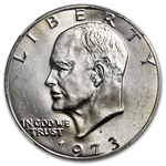 1973-S Eisenhower Dollar MS-64 - NGC Curved Clip Mint Error