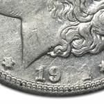 1921-S Morgan Dollar XF-45 NGC Obverse Struck Thru Mint Error