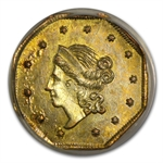1860 BG-1102 Liberty Octagonal One Dollar Gold MS-63 PCGS