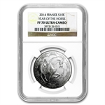 2014 Silver Proof Year of the Horse-Lunar Series - PF-70 UCAM NGC