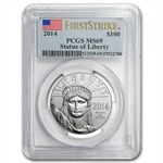 2014 1 oz Platinum American Eagle PCGS MS-69 First Strike