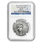 2014 1 oz Platinum American Eagle MS-70 Early Releases NGC