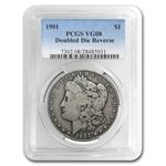 1901 Morgan Dollar VG-8 PCGS VAM-3 Doubled Die Reverse Top-100
